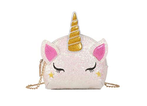 Voarge Niñas unicornio lentejuelas bandolera bandolera bolso bandolera, bolso de niña, regalo para niña