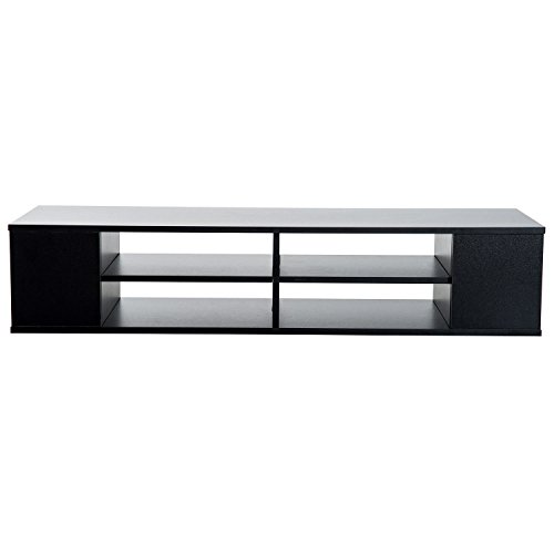 FDInspiration Matte Black 48' Floating TV Stand Cabinet Wall Mounted...