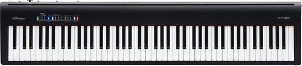 Roland, FP-30 88-key Portable Bluetooth Digital Piano (PF-30), (FP-30-BK)