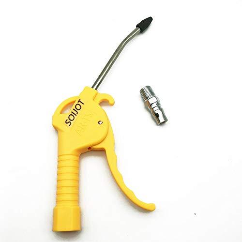 SCSY SSB-Reamer, 1 UNID AR-TS/AR-TS-L Aire neumático de Alta presión de Alta presión Que sopla Pistola de Polvo 1/4'PT Puerto de Hilo Femenino Polvo de Aire Tool Limpio (Color : AR TS Yellow)