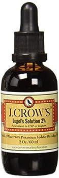 J.CROW S® Lugol s Solution of Iodine 2% 2oz