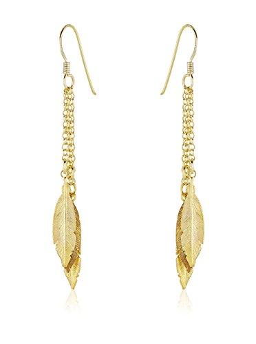 Córdoba Jewels | Pendientes en plata de ley 925 bañada en oro. Diseño Indian Oro