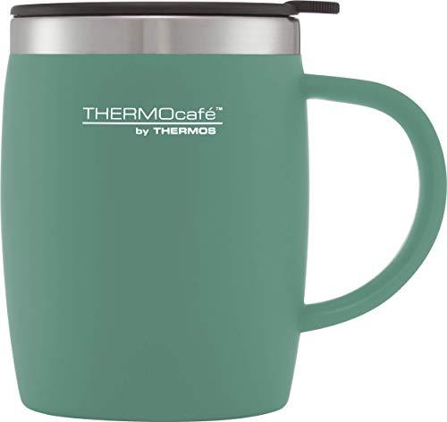 THERMOS ThermoCafé Mug de Bureau en Plastique et Acier Inoxydable 450 ML, Plastique Acier Inoxydable, Bleu Canard, 450ml