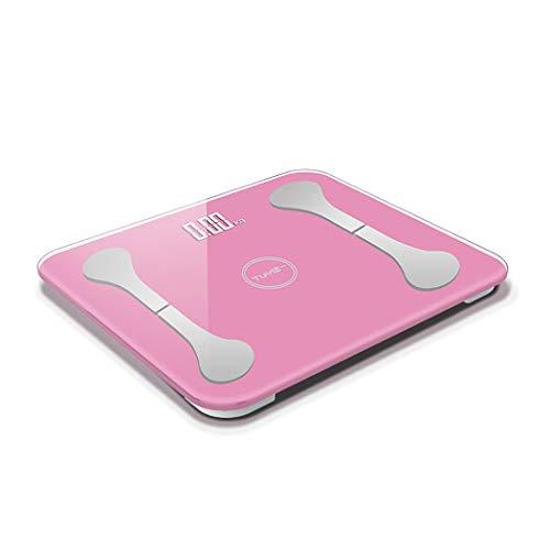 LYQQQQ Pesaje de Peso Bluetooth básculas electrónicas Inteligentes Escalas de Salud Escalas de Carga Grasa Corporal Personalizada (Color : Pink30×26cm)