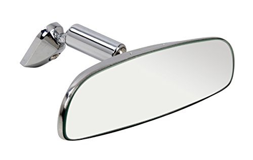 Universeller Oldtimer Innenspiegel Rückspiegel - aus verchromten Metall - 248x55 mm~