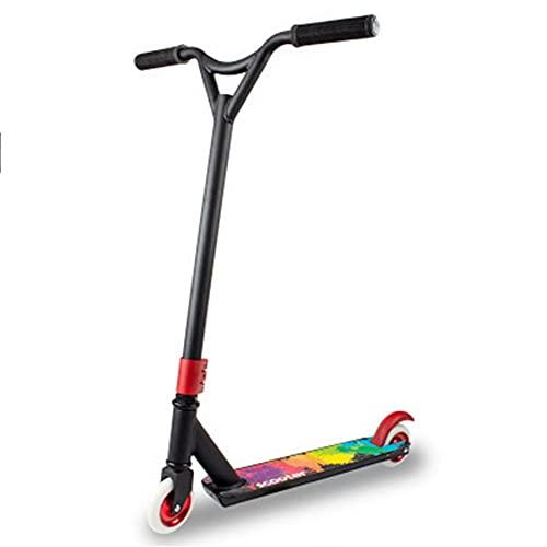 Patinete Freestyle Stunt Scooter Patinete Freestyle Stunt Scooter,Manillar Rotación 360° Plataforma Reforzada,Rodamientos ABEC 7 ,HIC System,Ruedas 100mm, Para Niños Y Jóvenes ( Color : Black )