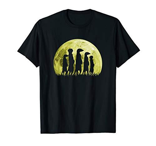 Erdmännchen Surikate Scharrtier Mond T-Shirt