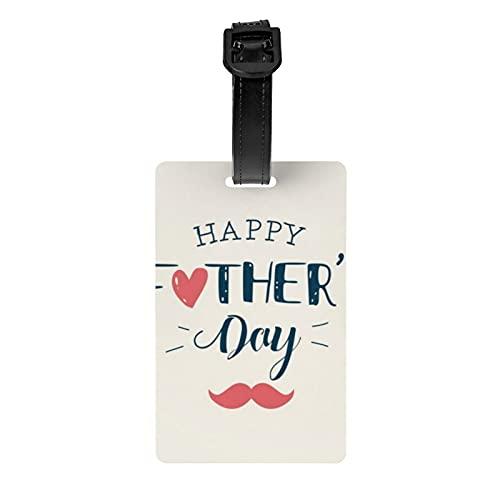 Etiqueta de equipaje para el día del padre, regalo para el día del padre, etiqueta de viaje, funda de privacidad, bolsa de viaje, equipaje de viaje, identificación, etiqueta de identificación