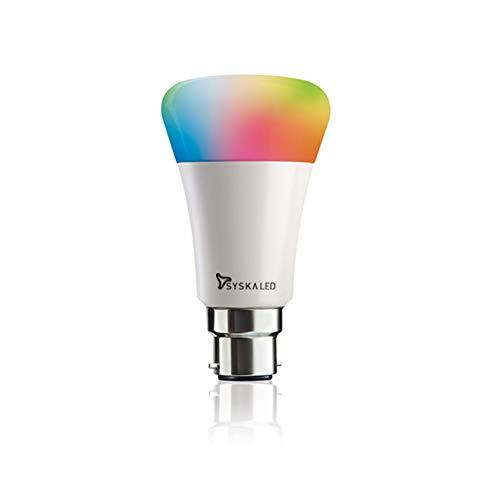 Syska 9-Watt Smart LED Bulb Compatible with Amazon Alexa (B-22 Pin type socket)