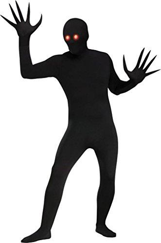 Fun World Men's Fade Eye Shadow Demon Skin Suit Adult Costume, Black, Plus Size
