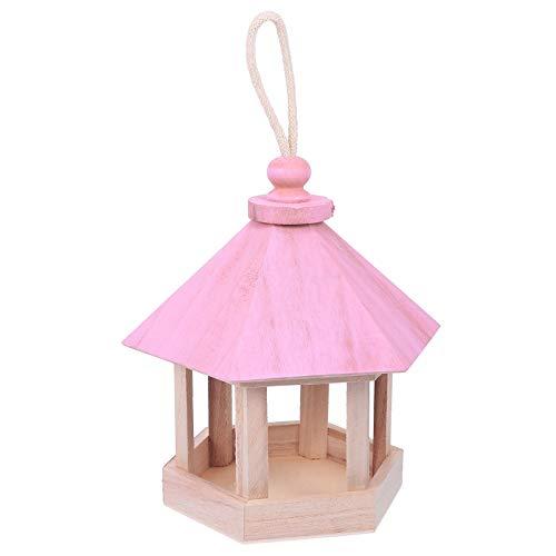 Cabilock Casa de Pássaro de Madeira Casa de Passarinho Pendurada para Jardim Externo Pátio Caixa de Ninho Decorativa Casa de Pássaro para Carriça Andorinha Pardal Colibri Finch Throstle