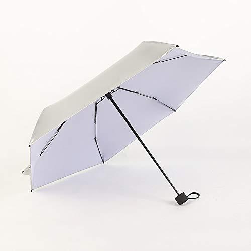 JNJSXAQ Parasol, zilverkleurig, UV-bescherming, voor dames, paraplu, ultralicht, mini-paraplu, opvouwbaar, compact, Celeste Y Blanco (Groen) - 6974453156307