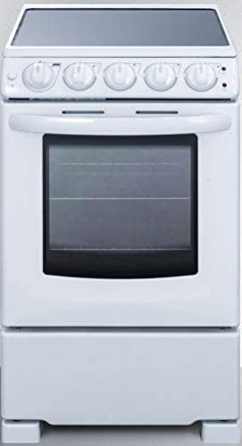 Summit Appliance REX2051WRT 20 Wide Slide In Look Smooth Top Electric Range in White with Oven product image
