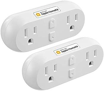 2-Pack Meross Smart Dual WiFi Outlet Plug