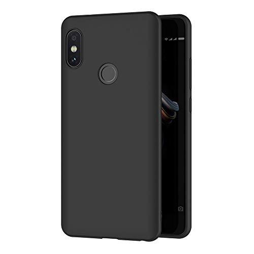 AICEK Xiaomi Redmi Note 5 Case, Black Silicone Cover for Xiaomi Redmi Note 5 Black Case (5.99 inch)