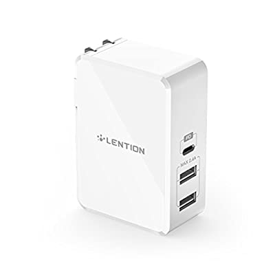 LENTION 45W USB C Wall Charger with Fast Charge PD Adapter for iPhone 11/Pro/Max/XS/XR/X/8/Plus, New MacBook Air/Pro, iPad Pro 2018 2019, Nintendo Switch, Samsung S10/S9/S8/Note 9/8, More (White) from DONGGUAN BAOLAIBO PLASTIC ELECTRONICS CO., LTD