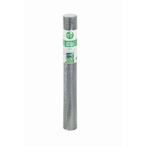 Catral 55010012 - Malla cuadrada galvanizada, 100 x 500 x 4 cm, color plata