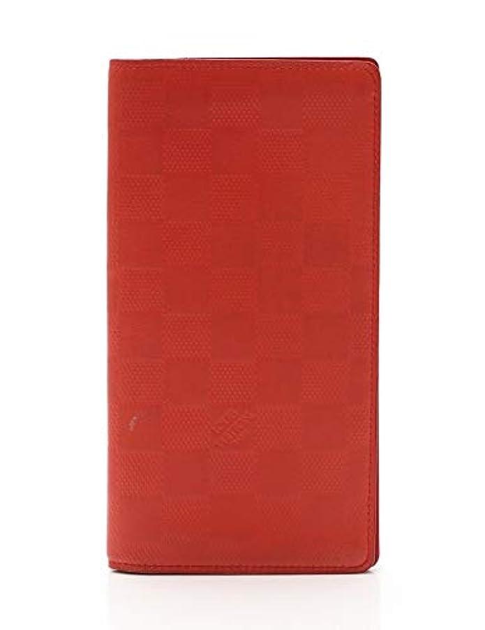 ガイダンスアイデアプランター(ルイ?ヴィトン) LOUIS VUITTON ポルトフォイユ ブラザ ダミエアンフィニ 二つ折り長財布 レザー フュージョン N63011 中古