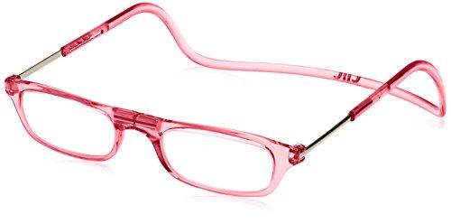 [クリックリーダー] 老眼鏡 Clic Readers メンズ ピンク +3.50-(FREEサイズ)