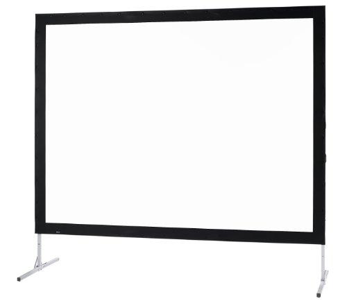 Medium Mobile professionelle Faltleinwand Fold Exclusiv 264x203cm mit einteiligem Faltrahmen und schwarzem Rand (Format (4:3) inkl. Tragetasche