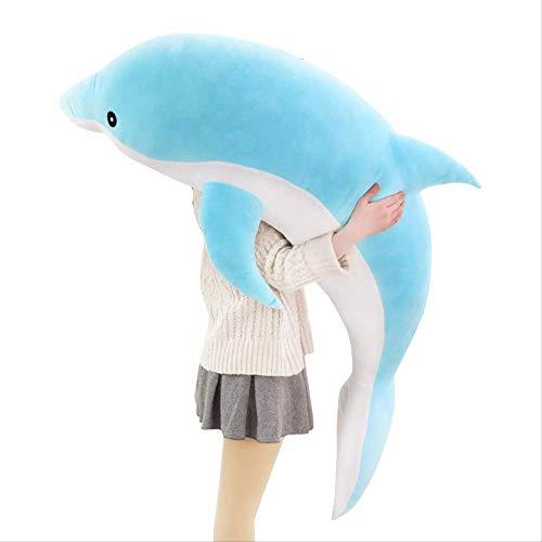 DOUFUZZ SNHPP Peluche Juguete muñeca delfín Dibujos y Descubiertos muñeco de delfín Creativo Regalo Mujer Abrazo Almohada Día de San Valentín Regalo de los niños 50cm Azul