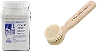 Chris Christensen 8 oz. White Ice Chalk and Powder/Chalk Brush Bundle