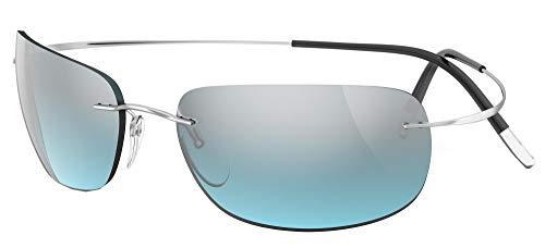 silhouette occhiali Silhouette Occhiali da Sole TMA MUST 8713 Silver/Grey Blue taglia unica unisex