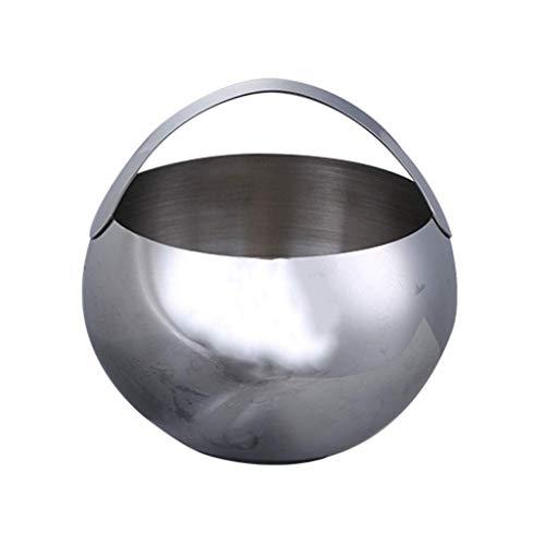 YWSZJ Edelstahl-Eiskübel, Doppelschicht-Isolationseimer mit Deckel und tragbarem Griff, Bierfass