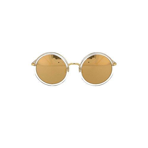 Occhiali da Sole Linda Farrow LINDA FARROW 239 CLEAR YELLOW GOLD Clear Yellow Gold/Gold Mirror 51/22/145 donna