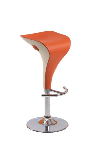 Easychair 20138 Barhocker 2 x Firenze Exclusiv, orange / weiss