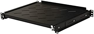 NavePoint Sliding Rack Vented Server Shelf 1U 19 Inch 4 Post Rack Mount 13.75 Inches (350mm) Deep