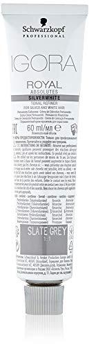 Schwarzkopf Igora Absolutes Silverwhite Slate Grau, 1er Pack (1 x 60 ml)