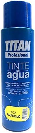 Titan - Tinte Profesional al agua 500 ml (402 AMARILLO ...
