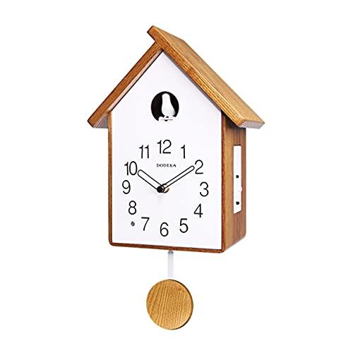 Reloj de pared de madera maciza, reloj despertador de cuco nórdico creativo para sala de estar infantil, reloj de cuco (color: B)