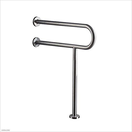 Armlehnen-Handläufe, Handläufe aus 304 rostfreiem Stahl, Handläufe für Badezimmer, Handläufe für Behinderte, Toiletten-Handläufe, Toiletten-Handläufe für ältere Menschen (Größe: 600168 mm)