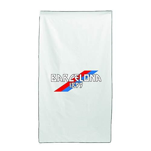 Tipolitografia Ghisleri Toalla, toalla de playa, toalla con bandera oblicua Barcelona 70 x 140 cm