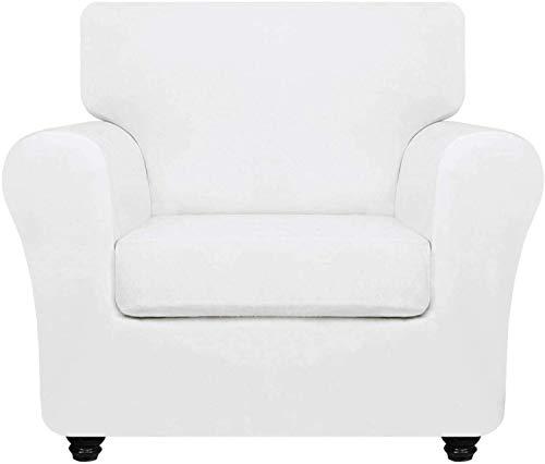 PPOIU Funda de sofá de Terciopelo de Lujo con Fundas de cojín separadas, Protector de Muebles Antideslizante de Repuesto de Funda de sofá de Felpa Ultra Suave elástica con Fondo elástico