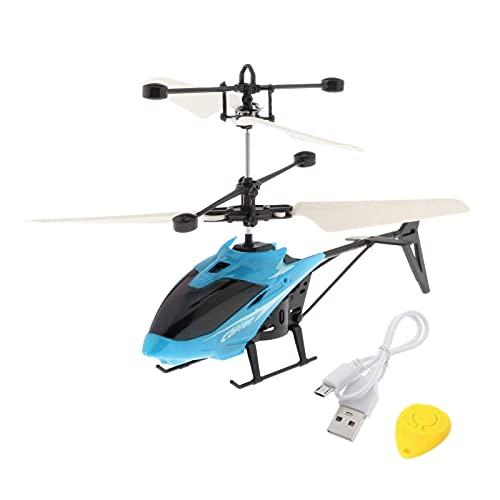 Ellenbogenorthese-LQ Drone partes infrarrojos helicóptero volador juguetes de control remoto de inducción aviones luz brillante USB mano operado Drone niños regalos 4 años de edad - rojo (color: azul)
