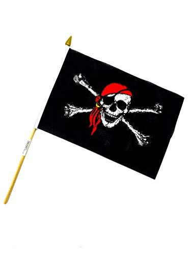 PG Intertrade Creation Gross Fahne Flagge BRD Deutschland 21x16cm mit Holzstab (0140702) (Tischfahne Pirat)