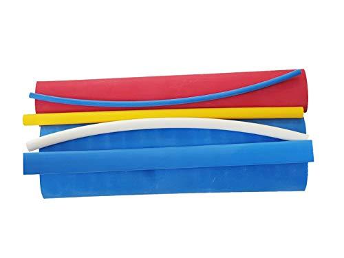 AKTION 6 tlg. Schrumpfschlauch Set mit Kleber verschiedene Durchmesser