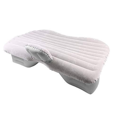 Vobor Beflockung Luchtkussen voor buiten, opblaasbare matras, universeel, voor achterbank matras, van pvc, voor reisstoel, met 2 opblaasbare kussens en 1 elektrische compressor grijs.