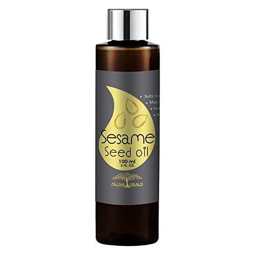 【Amazon.co.jp 限定】天然100% キャリアオイル アロマ ベースオイル化粧品グレード手作り化粧品材料無添加/無農薬 セサミオイル ごま油 Sesame Oil (India) - 100ml