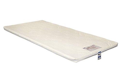 Yanis Latex Plus Surmatelas 5 cm Dunlop Latex, Latex, blanc, Small Double 120x190cm
