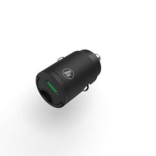 Hama - Mini cargador para coche, Power Delivery (PD)/Qualcomm, 18 W, color negro