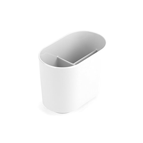 UMBRA Toothbrush holder Step. Porte brosse à dents Step. En mélamine brillante. Coloris blanc. Dimension 12x7.6x10.2cm