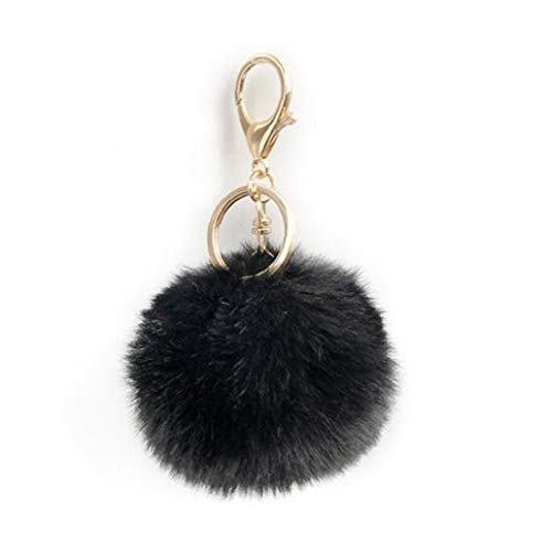 Pompom Keychain Ball Keyring Fluffy Plush Artificial Rabbit Fur Bags Backpacks Suitcase Pendant Accessories for Women Girls Personal Items