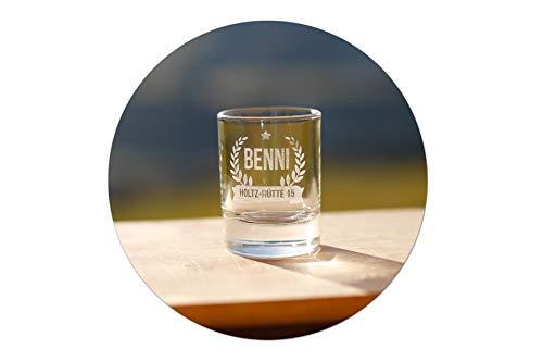 SNEG Schnapsglas (Stamperl) mit persönlicher Gravur - 4cl - individuell graviert Titelbild