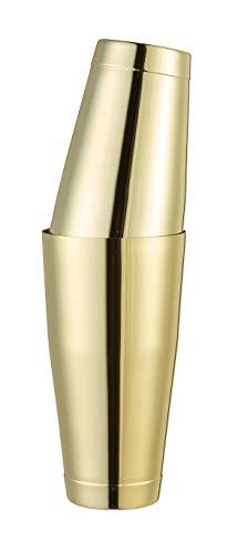 Boston - Coctelera de cóctel de color dorado con doble timb