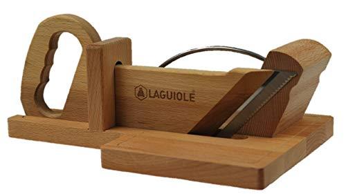 Guillotine à saucisson Laguiole® véritable avec lame crantée Made in France, Thiers.