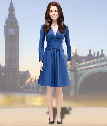Big Sale Franklin Mint Kate Middleton Royal Engagement Portrait Doll